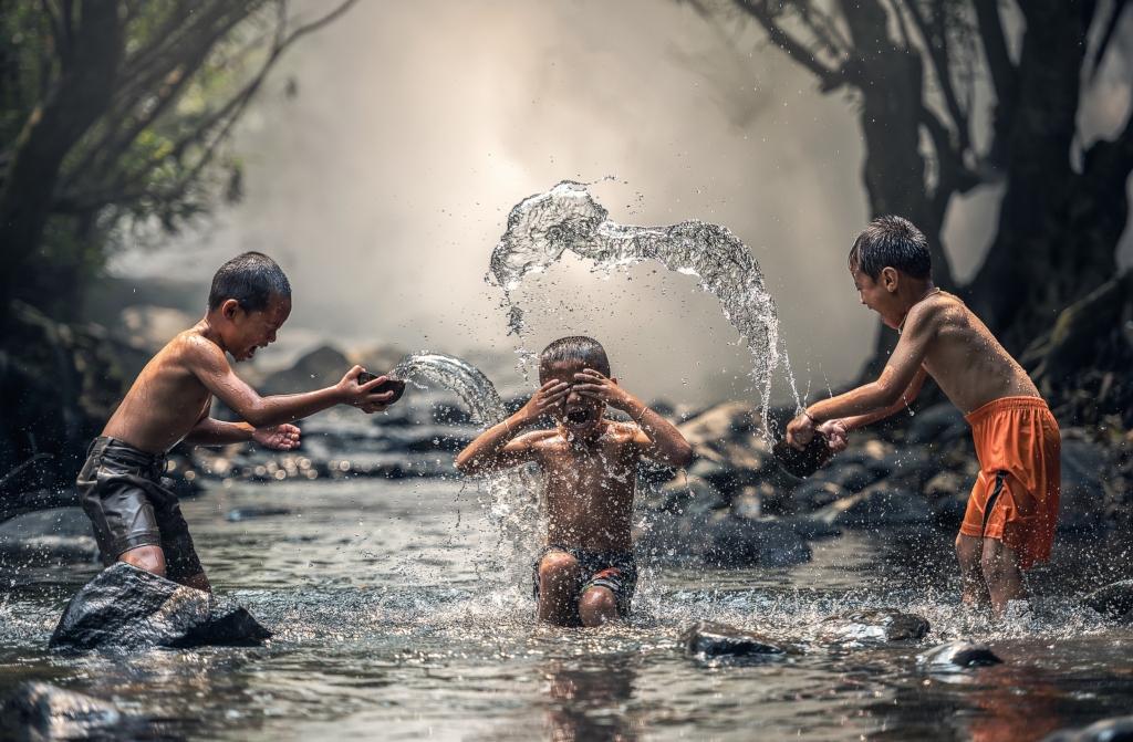 Come risparmiare acqua: regole per i bambini