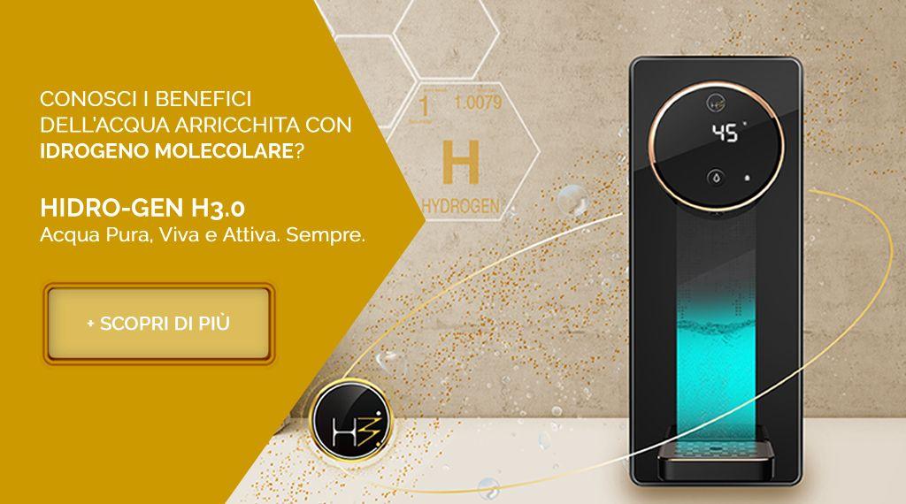 HIDRO-GEN H3.0 - Acqua Pura, Viva e Attiva. Sempre.